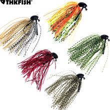 5Pcs Jig Fishing Lures Pesca Artificial Bait Skirt Rubber Fishing Jigs Head Buzz Swim Bass Jig 7g /10g/14g 1/4oz 3/8oz 1/2oz(China)