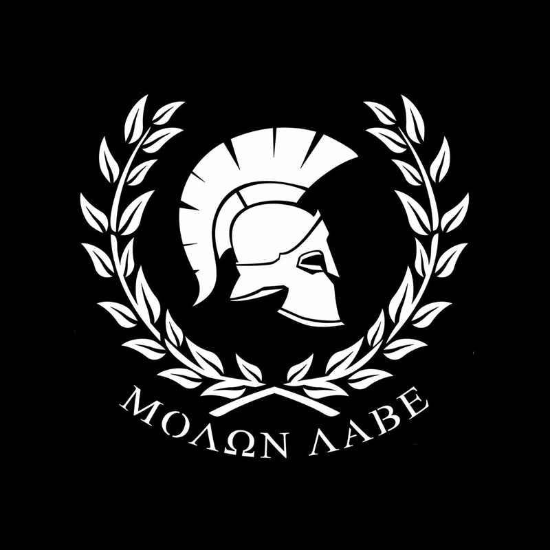 Aliauto Personaily 車のステッカー Molon ラベ戦士スパルタ装飾防水ビニールデカールポルシェマツダ 6 プジョー、 18 センチメートル * 17 センチメートル