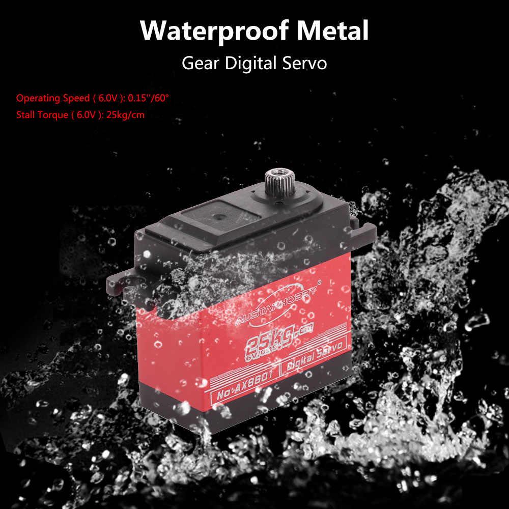 1 pc/2 sztuk AX8601 25KG duży moment obrotowy serwomechanizm cyfrowy wodoodporny do zdalnie sterowany samochód gąsienicowy SCX10 TRX4 helikopter rc łodzi akcesoria rc