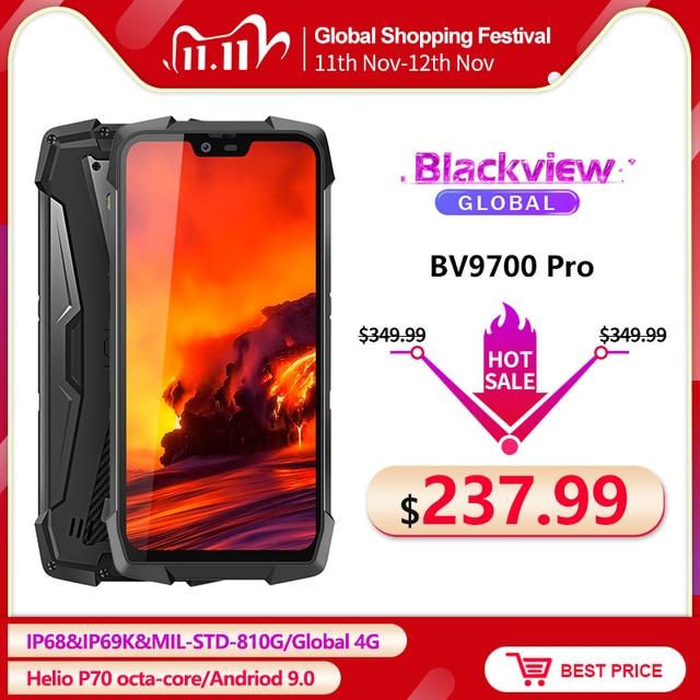 "Blackview BV9700 פרו IP68/IP69K מחוספס נייד Helio P70 אוקטה core 6GB + 128GB 5.84 ""IPS 16MP + 8MP 4G פנים מזהה Smartphone"