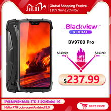 "Blackview BV9700 Pro IP68/IP69K Robuste Handy Helio P70 Octa core 6GB + 128GB 5.84 ""IPS 16MP + 8MP 4G Gesicht ID Smartphone"