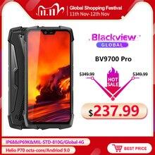 "Blackview BV9700 Pro IP68/IP69K téléphone portable robuste Helio P70 Octa core 6GB + 128GB 5.84 ""IPS 16MP + 8MP 4G Face ID Smartphone"