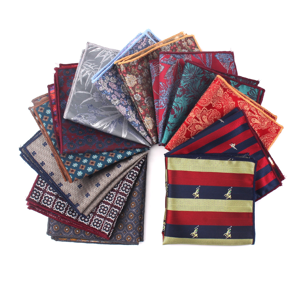 Fashion Jacquard Pocket Square For Men Women Chest Towel Hanky Gentlemen Hankies Men's Suits Handkerchief Floral Pocket Towel