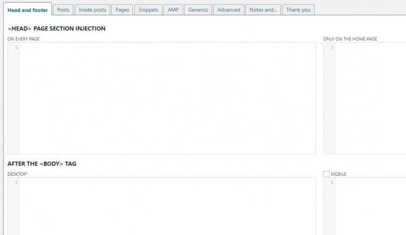 WordPress全局代码插入插件 Header and Footer插图1