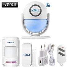 KERUI sistema de alarma de seguridad para el hogar WIFI compatible con Smart App de Alexa, PIR 120dB de Panel principal, Sensor de alarma antirrobo inalámbrica para puerta y ventana