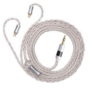 Image 2 - FDBRO 16 rdzeni posrebrzany kabel z wtyczką z włókna węglowego 2.5mm/3.5mm/4.4mm 2PIN A2DC IE80 IM kabel MMCX kabel do słuchawek