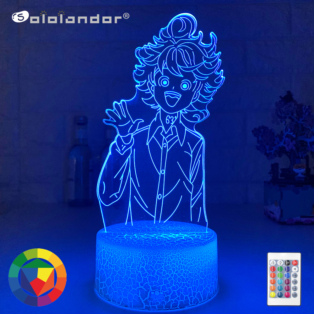 Lámpara acrílica 3d de Anime My Hero Academia Dabi, luz Led para decoración de dormitorio, Manga fresca, regalo para él, luz nocturna colorida Rgb Dabi