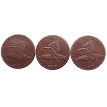 Whole Set of Flying Eagle Cent Copper (1856 1857 1858) 3PCS COPY USA Coins