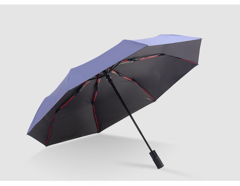 Wheel Customizable Umbrella Creative 8 Bone Vinyl Umbrella Three Fold UV-Protection Folding Ultra Large Rain Or Shine Business A