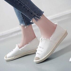 Image 4 - Kobiety mieszkania balerinki Slip On w stylu Casual, damska na płótnie buty mokasyny oddychające kobiet espadryle jazdy obuwie Zapatos Muje