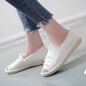 Image 4 - Women Flats Ballerina Shoes Slip On Casual Lady Canvas Shoes Loafers Breathable Female Espadrilles Driving Footwear Zapatos Muje