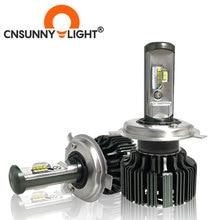 CNSUNNYLIGHT H4 H7 H11 H1 CSP LED 9005/HB3 9006/HB4 H13 9004 9007 H3 8000Lm araba kafa lambası ampulleri sis farları beyaz 6000K 12V 24V