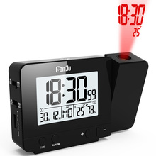 Projection Alarm Clock Digital Date Snooze Function Backlight Projector Desk Table Led With Time new
