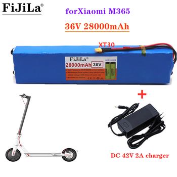 36V28Ah Scooter Battery Pack for Xiaomi Mijia M365 36V 28000mAh Battery pack Electric Scooter BMS Board for Xiaomi M365+Charger image