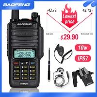 10W Waterproof Baofeng UV 9R Plus Walkie Talkie 9rhp Powerful Portable CB Ham Radio 10KM Dual Band hf transceiver UV9R Transmit