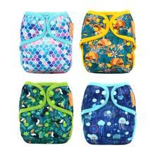 Cloth Diaper-Cover Happyflute Adjustable Baby Waterproof Fit 5-15kg 4pcs/Lot OS S-M