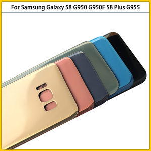 Image 5 - جراب هاتف خلوي زجاجي احتياطي ، غطاء بطارية لهاتف Samsung Galaxy G950 G950F S8 Plus G955 G955F ، 10 قطعة