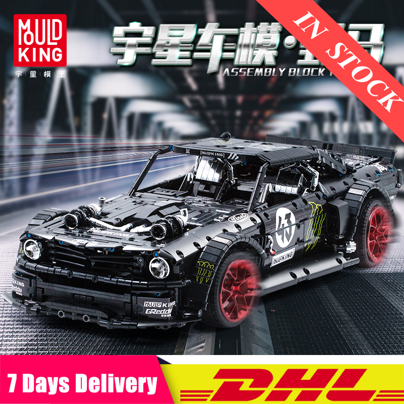 2020 IN Stock 13108 RC Technic Car Ford Mustang Hoonicorn With Motor 20102 <font><b>MOC</b></font> <font><b>22970</b></font> Building Block Bricks Toys Gift image