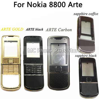 Full Housing For Nokia 8800 Arte Carbon ARTE Sapphire Back Battery Cover Middle Frame Plate With Keyboard Button