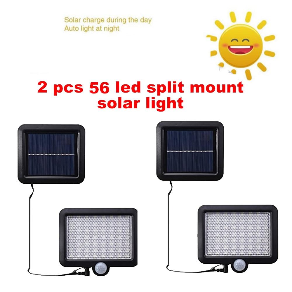 2/4pcs Outdoor Led Solar Light 100/56/30 Leds Outdoor Motion Sensor Solar Lamp Waterproof Security Lights For Garden Wall Yard S