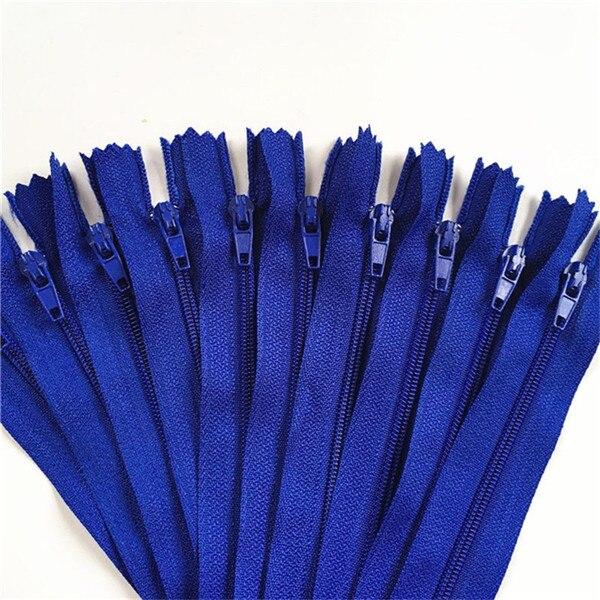 10 шт. 3 дюйма-24 дюйма(7,5 см-60 см) нейлоновые застежки-молнии для шитья на заказ нейлоновые молнии оптом 20 цветов - Цвет: deep blue
