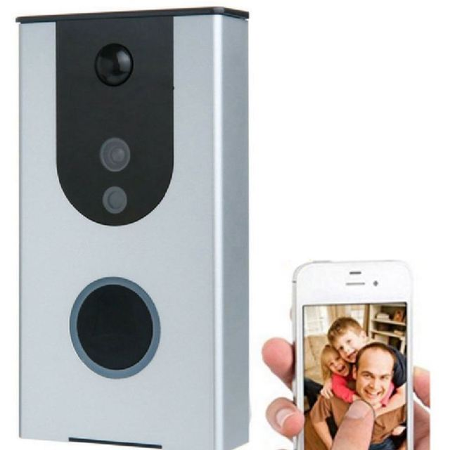 Battery Powered Wi-Fi Video Doorbell Camera, Wireless Doorbell Camera with Built in 8G card, Motion Detection, Night Vision, wit
