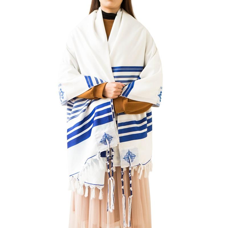 Image 3 - 140x190cm Tallit  Jewish Prayer scarf big size Tallits Star of DavidMens Scarves   -