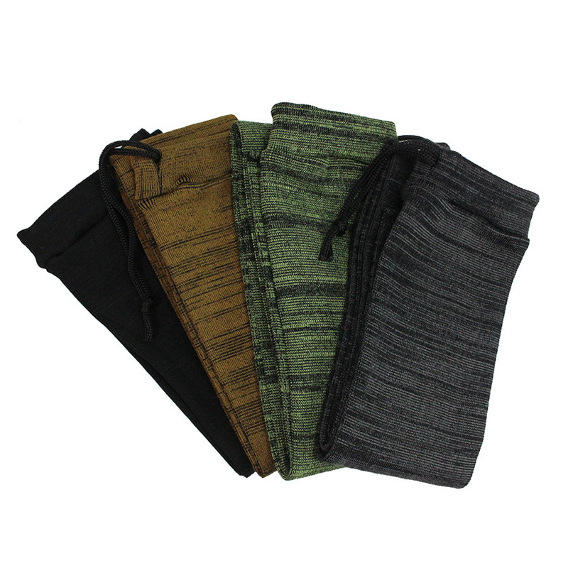 Knit Sock Polyester Silicone Treated Rifle Fishing Rod Sock Protection Cover Bag Case Tactical Hunting Accessories