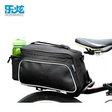 цена на ROSWHEEL 10L Bicycle Carbon Fiber Leather Bag Bike Rear Rack Seat Pannier Bag Pouch Rear Rack Cargo Bag Bike Accessories
