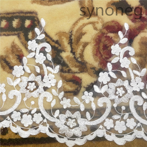 Image 5 - Veu de noiva longo dantel aplikler bir katmanlar 3M 4M 5MLong Veils düğün Veils tarak düğün aksesuarları gelin Veils
