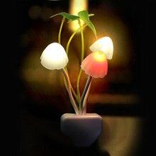 Night Light Lamp Mushroom Rose Home Bedroom Decor Colorful Nightlights 110V-220V luminaria for chilren kids baby night