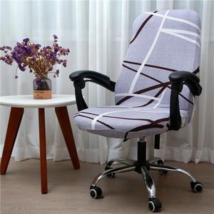 Image 2 - משרד מסתובב מחשב כיסא כיסוי כיסא אלסטי כיסוי אנטי מלוכלך נשלף מעלית כיסא מקרה מכסה לחדר ישיבות מושב כיסוי