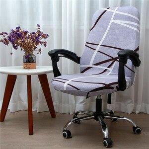 Image 2 - สำนักงานหมุนเก้าอี้คอมพิวเตอร์ยืดหยุ่นเก้าอี้Anti สกปรกถอดออกได้เก้าอี้ยกสำหรับห้องประชุมที่นั่งฝาครอบ