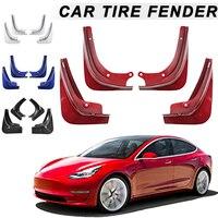 1 компл. Автомобильные Брызговики Всплеск защитные крылья брызговик для Tesla модель 3 с крепежными винтами OE88