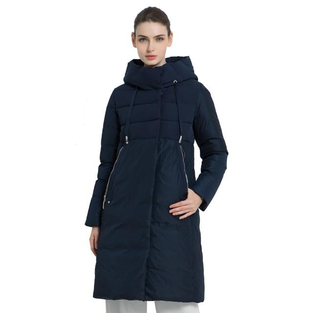 ICEbear2019 Новая зимняя длинная женская куртка высокого качества  Женское пальто с капюшоном Женские парки Стильная женская Брендовая одежда GWD18310