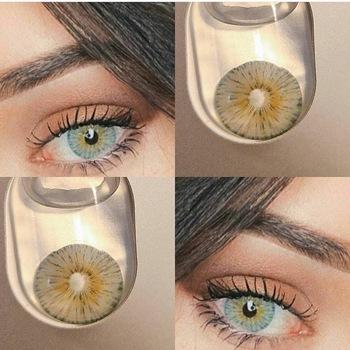 NEW ARRIVAL Cosplay kontakt osłona obiektywu ciemne oczy Hotsale kontakt oczu z kolorem tanie i dobre opinie fashion on your eyes CN (pochodzenie) 14 2 Dwa kawałki 0 06-0 15 mm HEMA Piękna źrenica RussianGirl 1year 12 Month