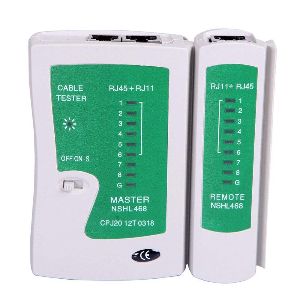 Rede lan cabo tester teste rj45 Rj-11 cat5 utp ethernet ferramenta cat5 6 e rj11 8p portátil testador de cabo de rede