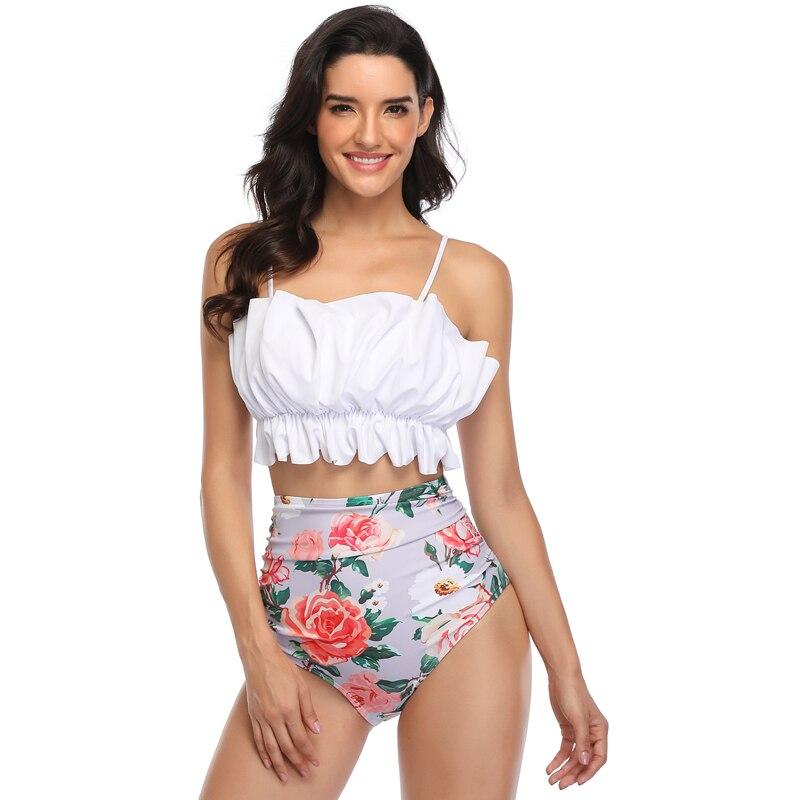 Sexy Ruffle Bikinis Women Swimsuit Push Up Swimwear High Waist Bikini Set Female Bathing Suit Ladies Beachwear Biquinis Summer 1