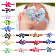 Lovely Baby Bows Baby Headband Baby Girl Headbands Baby Turban Newborn Photography Props Baby Haarband Baby Hair Accessories cheap KAVKAS Microfiber Unisex BY0492 0-1M Plaid cotton