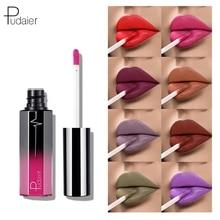 Pudaier Long Lasting Matte Lipsticks Waterproof 18 Color Velvet Liquid Lipstick Nude Red Purple Brow