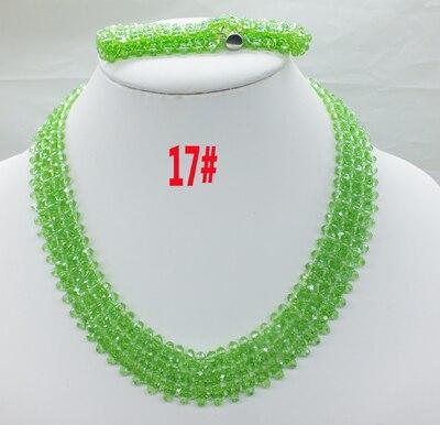 Новая цена-Африка, Нигерия, самый популярный ювелирный набор с кристаллами для невесты - Окраска металла: 17