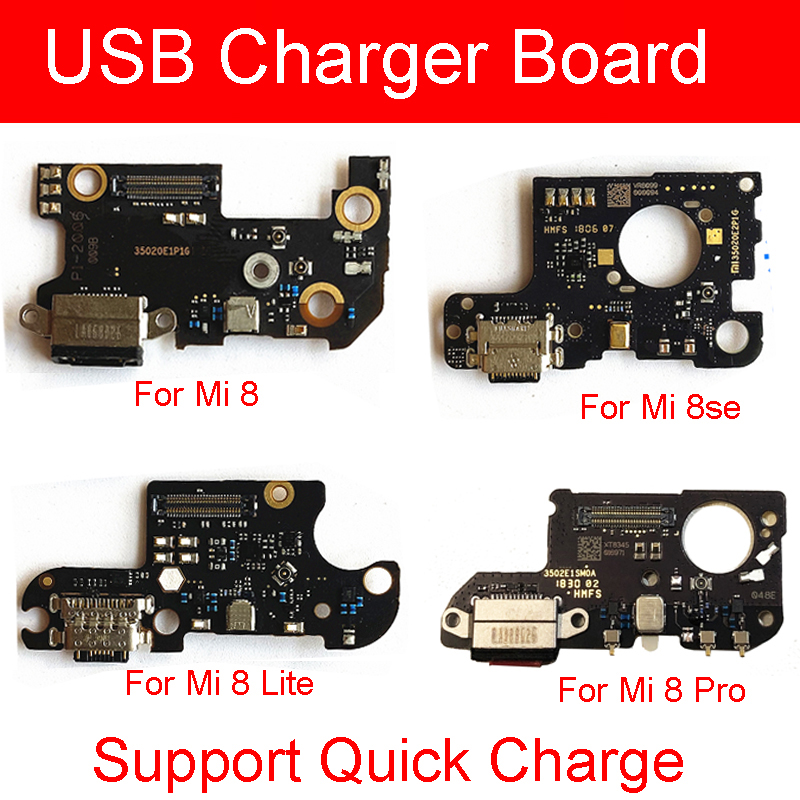 Genuine Charging usb port board With Quick Charge For Xiaomi Mi <font><b>8</b></font> Lite 8se Mi8 Pro PCB Charger <font><b>Plug</b></font> Flex Cable Replacement Parts image