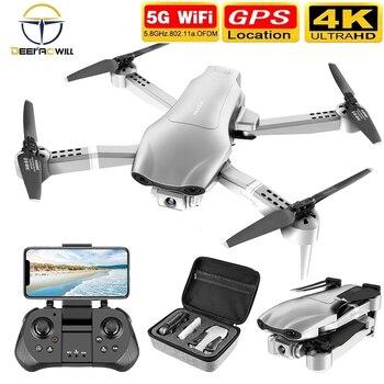 Dron F3 con GPS, 4K, 5G, WiFi, vídeo en vivo, FPV, Quadrotor...