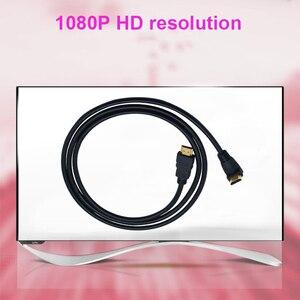 Image 2 - 90 graus 1080 p versão 1.4 hdmi macho de alta velocidade para hdmi macho cabo suporte 3d tv lcd/dvd/projetor 1.5m 3m