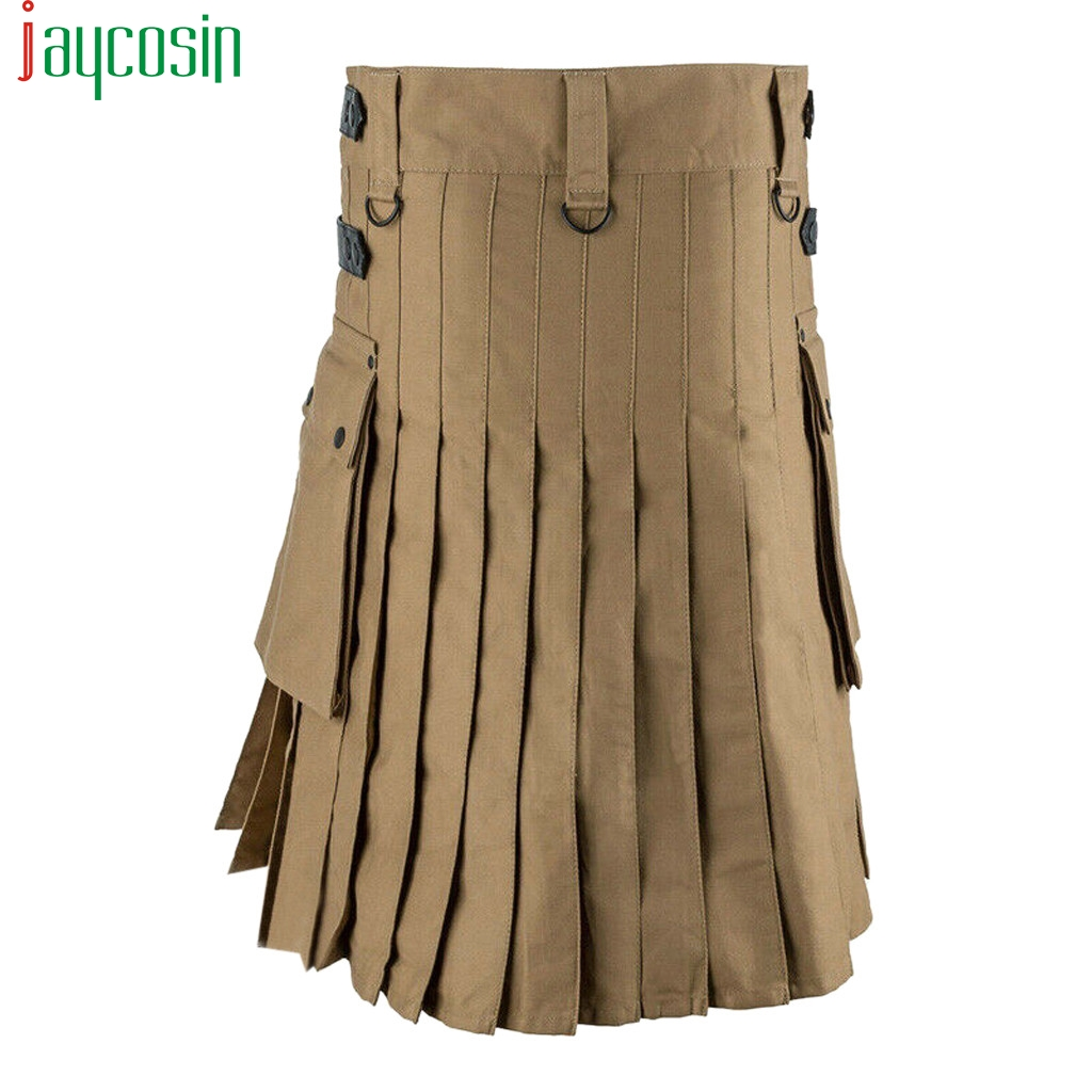Women Casual Cargo Skirt Summer Multi-Pocket Pleated Female Skirt Plus Size High Quality Solid Color High Waist Party Skirt