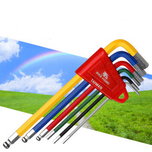 6-piece color Allen wrench set Bicycle repair tool riding companion