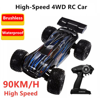 1/10 Brushless Motor Professional RC Car Toy 90 km/h 1:10 Remote Control 4WD Climb Truck RTR with Transmitter High Power Gifts image