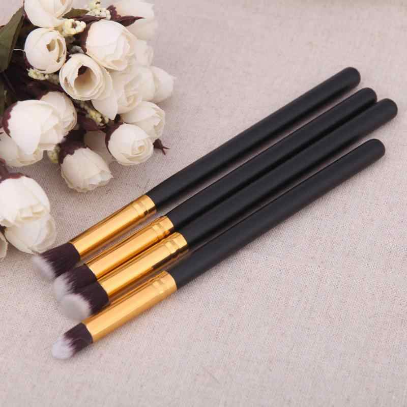 4 Stuks Professionele Make-Up Kwasten Set Oogschaduw Poeder Blush Oogschaduw Concealer Foundation Blending Brush Cosmetica Beauty Tools