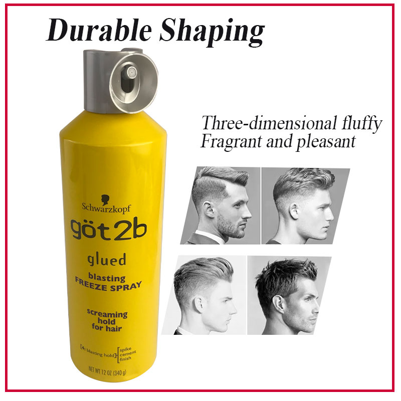 got 2b 170g/340g/150g Hair Gel got2b Glued Blasting Freeze Non-sticky No Flakes Spray Ultra Invincible Styling