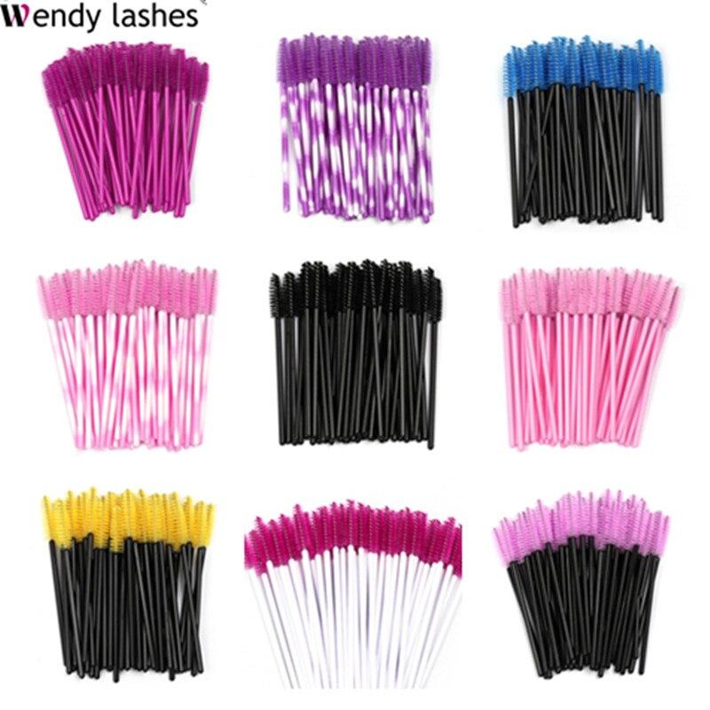 Escovas de cílios descartáveis rímel varinhas pestana sobrancelha aplicador cosméticos maquiagem escova cílios extensão ferramenta acessórios